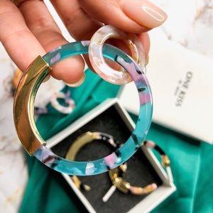Blogger Fav   Multi Color Tropical Circle Earrings